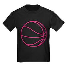 Pink Basket Ball T-Shirt