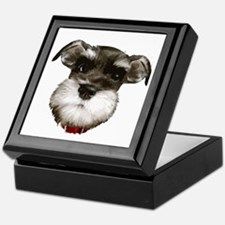 mini_schnauzer_face001 Keepsake Box