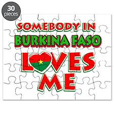 Somebody in Burkina Faso Loves me Puzzle