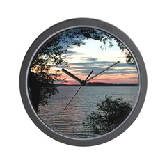 Cape Cod Sunset through the trees Wall Clock