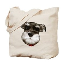 mini_schnauzer_face001 Tote Bag