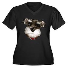 mini_schnauzer_face001 Plus Size T-Shirt
