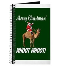 Merry Christmas Santa On Hump Day Camel Journal
