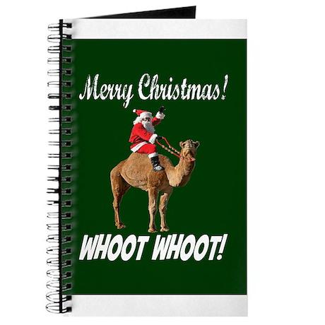 Merry Christmas Santa On Hump Day Camel Journal