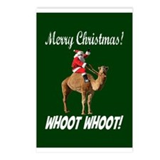 Merry Christmas Santa On Hump Day Camel Postcards