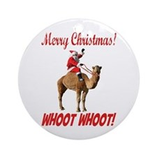 Merry Christmas Santa On Hump Day Camel Ornament (