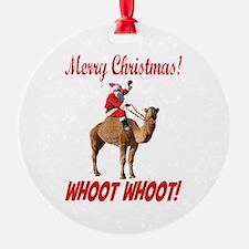 Merry Christmas Santa On Hump Day Camel Ornament