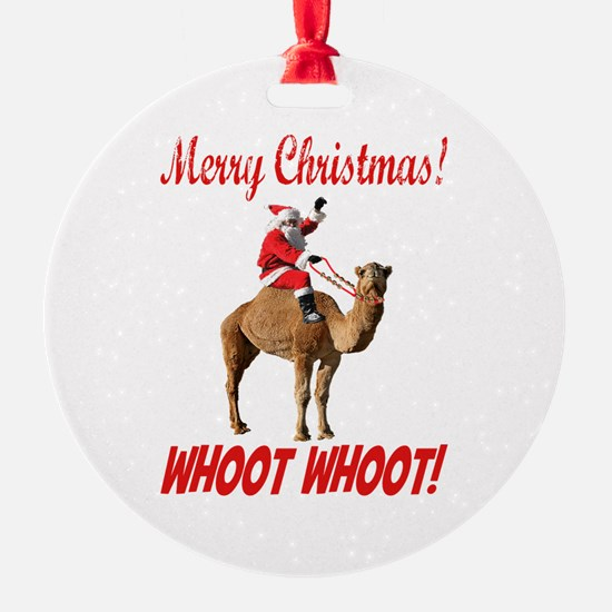 Merry Christmas Santa On Hump Day Camel Ornament