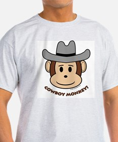 Cowboy Monkey Ash Grey T-Shirt