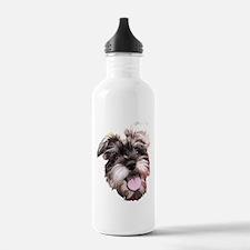 mini_schnauzer_face002 Water Bottle