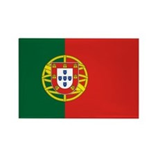 Flag of Portugal Rectangle Magnet (100 pack)