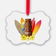 Tiki and Surfboards Ornament