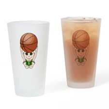 Cute basketball youth Drinking Glass