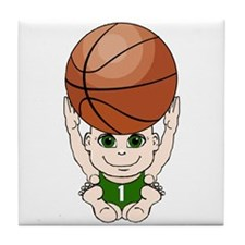 Cute basketball youth Tile Coaster