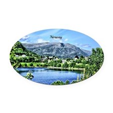 Beautiful Norway Oval Car Magnet