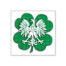 Irish Polish Heritage Sticker