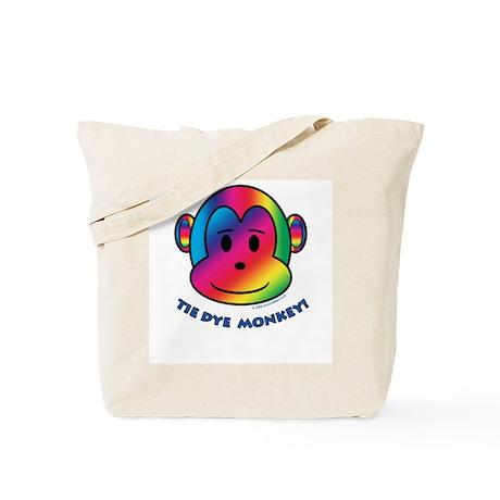 Tie Dye Monkey Tote Bag