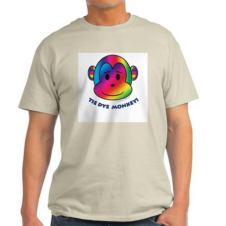 Tie Dye Monkey Ash Grey T-Shirt