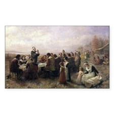 The First Thanksgiving at Plymouth Decal