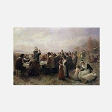 The First Thanksgiving at Plymouth Magnets