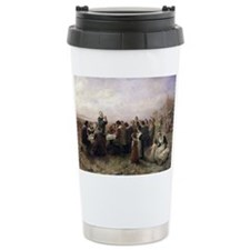 The First Thanksgiving at Plymouth Travel Mug