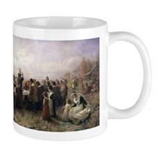 The First Thanksgiving at Plymouth Mugs