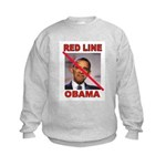 RED LINE OBAMA Sweatshirt