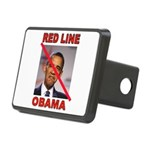 RED LINE OBAMA Hitch Cover