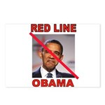 RED LINE OBAMA Postcards (Package of 8)