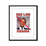 RED LINE OBAMA Framed Panel Print