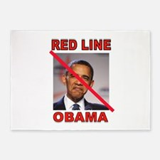 RED LINE OBAMA 5'x7'Area Rug