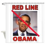 RED LINE OBAMA Shower Curtain