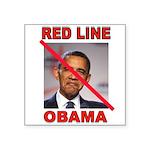 RED LINE OBAMA Sticker