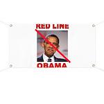 RED LINE OBAMA Banner