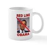 RED LINE OBAMA Mugs