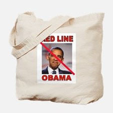 RED LINE OBAMA Tote Bag