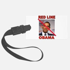 RED LINE OBAMA Luggage Tag