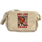 RED LINE OBAMA Messenger Bag