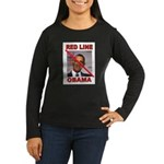 RED LINE OBAMA Long Sleeve T-Shirt