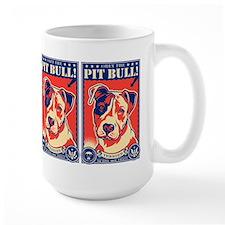 Obey the Pit Bull! USA propaganda Mugs