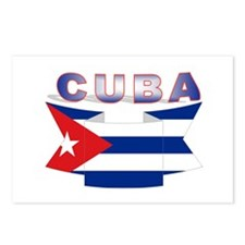 Cuba flag ribbon Postcards (Package of 8)