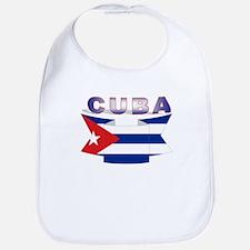 Cuba flag ribbon Bib