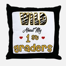 Wild About my 1st Graders Throw Pillow