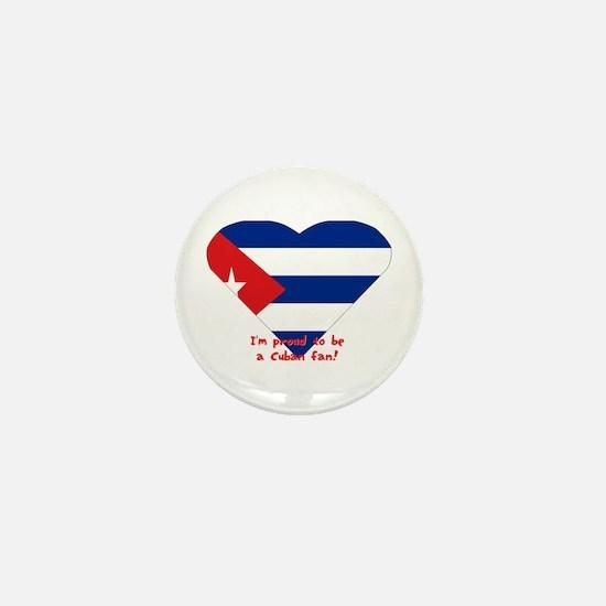 Cuban flag fan Mini Button