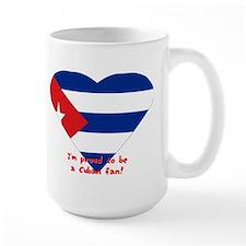 Cuban flag fan Mug