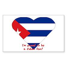 Cuban flag fan Rectangle Decal