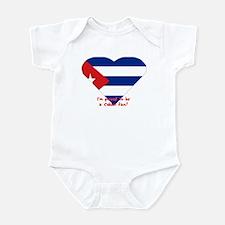 Cuban flag fan Infant Bodysuit