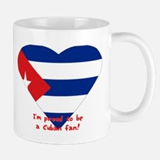 Cuban flag fan Mug