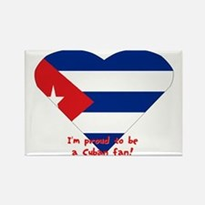 Cuban flag fan Rectangle Magnet
