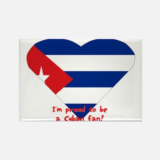 Cuban flag fan Rectangle Magnet